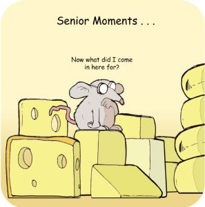 Senior Moments Funny Table Coaster